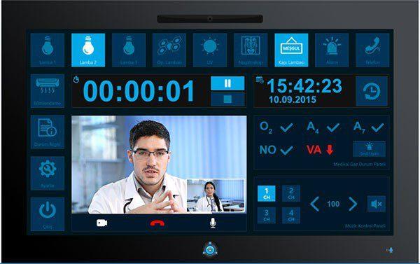 """Şekil-3 21,5 """" Dokunmatik Ekran Ameliyathane Kontrol Paneli"""