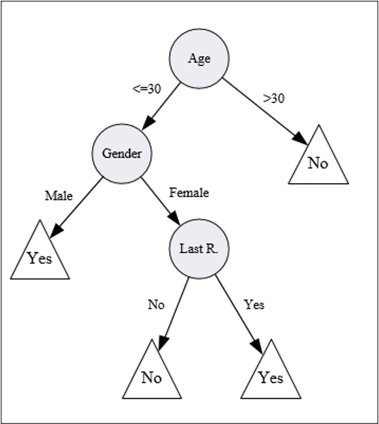 Figure 1: Decision Tree Presenting Response to Direct Mail
